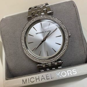 Michael Kors silver toned watch